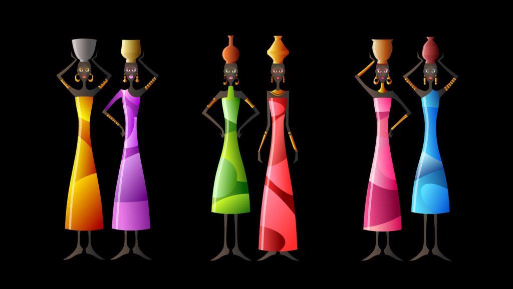 femmes africaines colorées