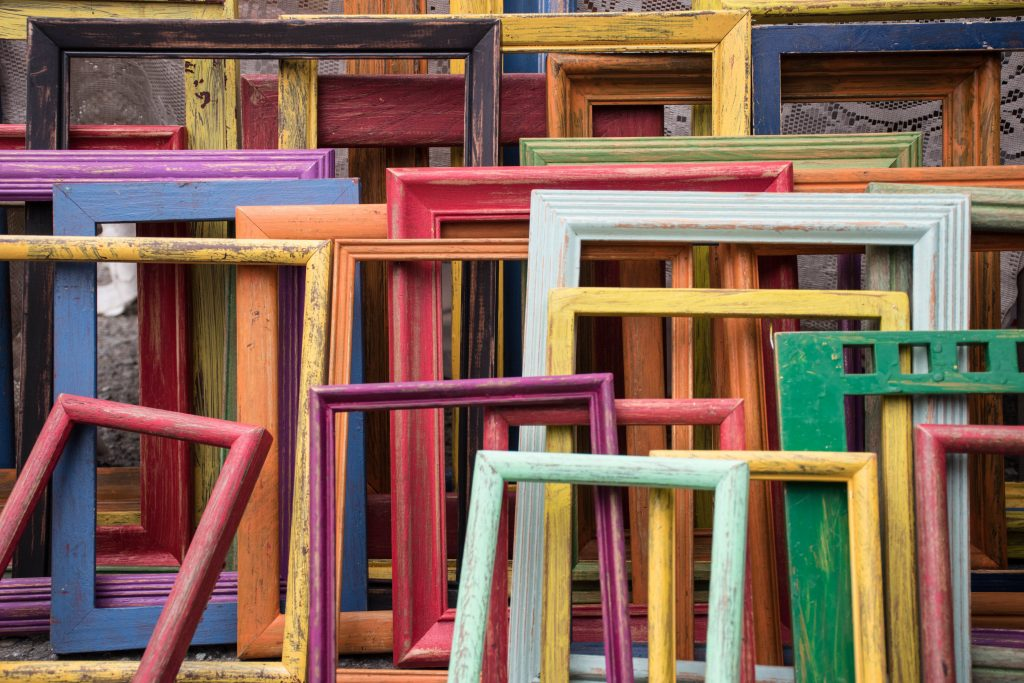 cadres de toutes les couleurs